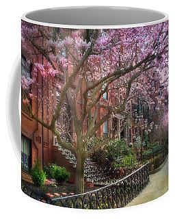Magnolia Trees In Spring - Back Bay Boston Coffee Mug