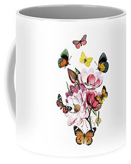 Magnolia With Butterflies Coffee Mug