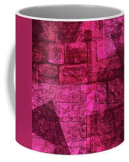 Coffee Mug featuring the mixed media Maha Shreem 1 by Sir Josef - Social Critic - ART