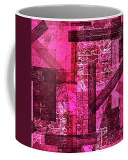 Coffee Mug featuring the mixed media Maha Shreem 2 by Sir Josef - Social Critic - ART