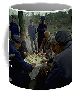 Coffee Mug featuring the photograph Mahjong In Guangzhou by Travel Pics