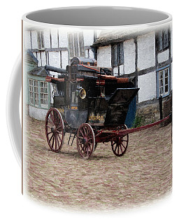 Coffee Mug featuring the digital art Mail Coach At Lacock by Paul Gulliver