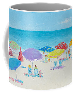 Main Beach East Hampton  Coffee Mug by Jan Matson