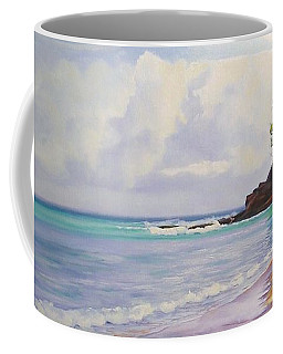Coffee Mug featuring the painting Main Beach Noosa Heads Queensland Australia by Chris Hobel