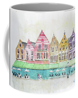 Main Square Brugges Coffee Mug by Keshava Shukla