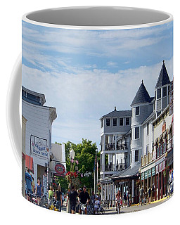 Coffee Mug featuring the photograph Main Street by Charles Robinson