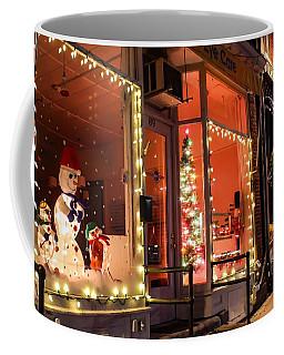 Coffee Mug featuring the photograph Main Street During The Holiday Season by Sven Kielhorn