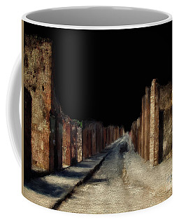 Coffee Mug featuring the digital art Main Street, Pompeii by Lois Bryan