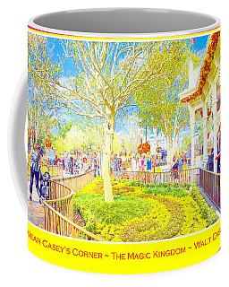 Main Street Usa Walt Disney World At Halloween Casey's Corner Coffee Mug