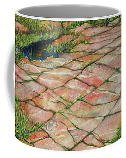 Coffee Mug featuring the painting Maine Coast Lines by Susan Herbst