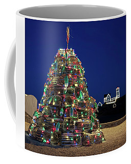 Maine Lobsta Trap Nubble Christmas Coffee Mug