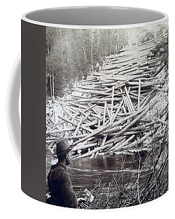 Maine Logging -  C 1903 Coffee Mug by International  Images