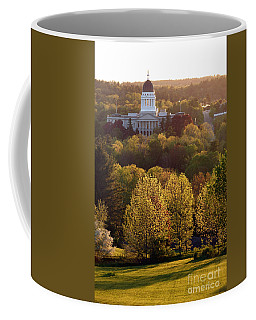 Maine State Capitol At Sunset Coffee Mug by Olivier Le Queinec
