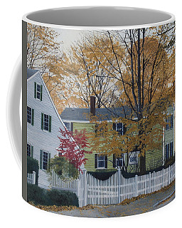 Autumn Day On Maine Street, Kennebunkport Coffee Mug