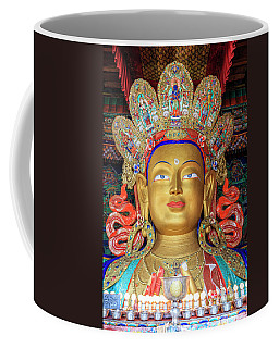 Coffee Mug featuring the photograph Maitreya Buddha Statue by Alexey Stiop