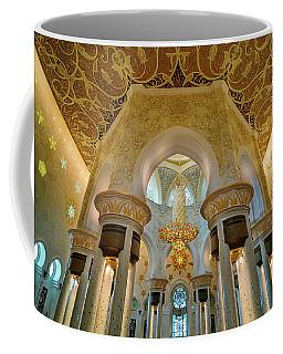 Majestic Interior View At Sheikh Zayed Grand Mosque, Abu Dhabi, United Arab Emirates Coffee Mug