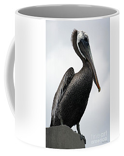 Coffee Mug featuring the photograph Majestic Pelican Photography A10317r by Mas Art Studio