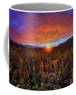 Majestic Sunset Over Cades Cove In Smoky Mountains National Park Coffee Mug