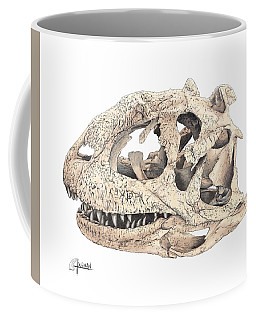 Majungasaur Skull Coffee Mug