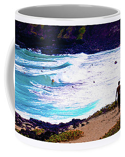 Coffee Mug featuring the photograph Panorama - Makapu'u Beach Park, Oahu, Hawaii  by D Davila