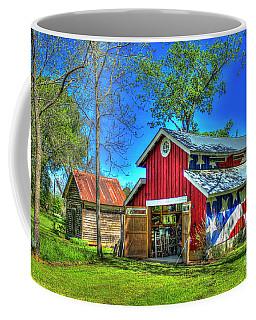 Coffee Mug featuring the photograph Make America Great Again Barn American Flag Art by Reid Callaway
