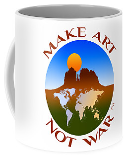 Make Art Not War Logo Coffee Mug