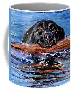 Coffee Mug featuring the painting Make Wake by Molly Poole