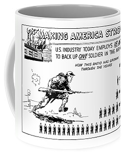 Making America Strong Cartoon Coffee Mug