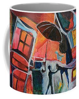Making Friends Under The Umbrella Coffee Mug