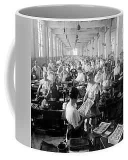 Making Money At The Bureau Of Printing And Engraving - Washington Dc - C 1916 Coffee Mug