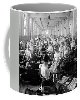 Making Money At The Bureau Of Printing And Engraving - Washington Dc - C 1916 Coffee Mug by International  Images