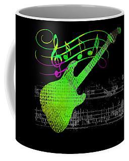 Coffee Mug featuring the digital art Making Music by Guitar Wacky