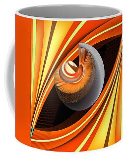 Coffee Mug featuring the digital art Making Orange Planets by Angelina Vick