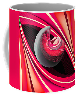 Coffee Mug featuring the digital art Making Pink Planets by Angelina Vick