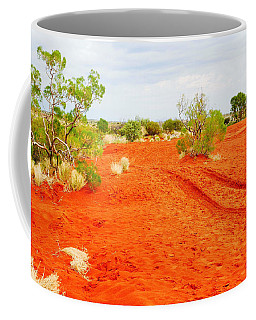 Making Tracks In The Dunes - Red Centre Australia Coffee Mug