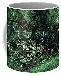 Malachite- Abstract Art By Linda Woods Coffee Mug