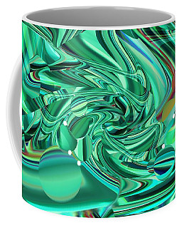 Malachite Green Sea Bubbles Coffee Mug