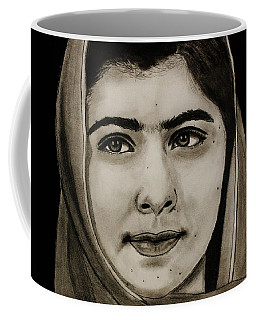 Malala Yousafzai- Teen Hero Coffee Mug by Michael Cross