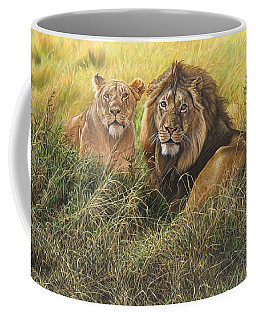 Male And Female Lion Coffee Mug