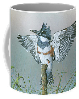 Male Belted Kingfisher Coffee Mug