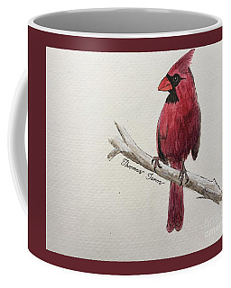 Male Cardinal In Winter Coffee Mug