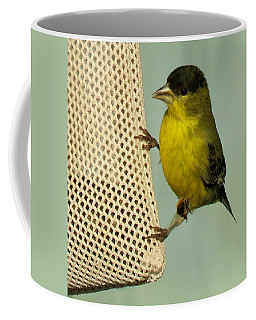Male Goldfinch On Sock Feeder Coffee Mug