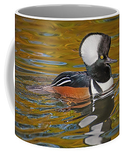 Coffee Mug featuring the photograph Male Hooded Merganser Duck by Susan Candelario