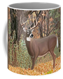 Male Mule Deer Painting Coffee Mug by Walter Colvin