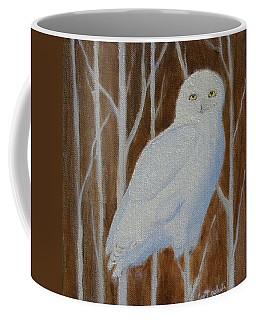 Male Snowy Owl Portrait Coffee Mug