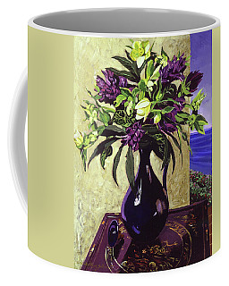 Malibu Hyacinths In Deep Blue Blue  Ceramic Coffee Mug