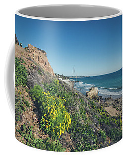 Coffee Mug featuring the photograph Malibu by Margaret Pitcher