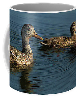 Coffee Mug featuring the photograph Mallard Family Outing by Jean Noren