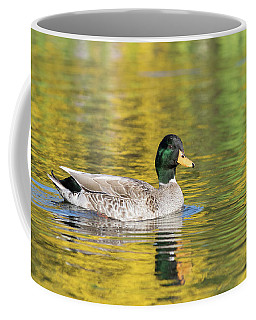Mallard In Yellow Coffee Mug