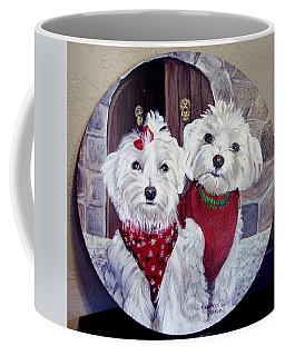 Maltese Pair Coffee Mug by Ruanna Sion Shadd a'Dann'l Yoder